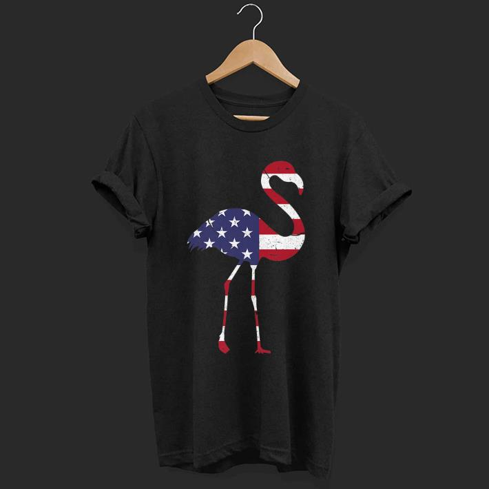 Hot Patriotic Flamingo I 4th Of July American Flag shirt