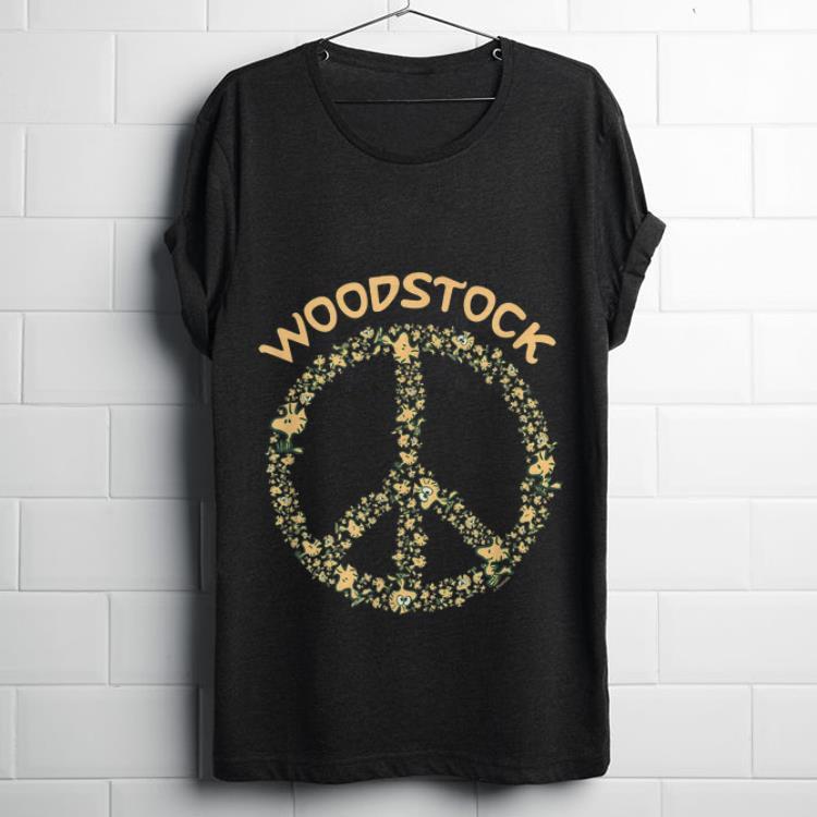 Hot Peanuts Woodstock 50th Anniversary Peace Sign shirt