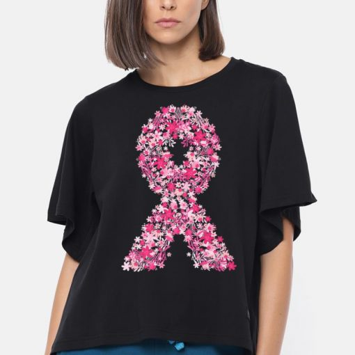 Hot Pink Flowers Ribbon Breast Cancer Awareness shirt 3 1 510x510 - Hot Pink Flowers Ribbon Breast Cancer Awareness shirt