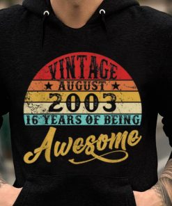 Hot Retro Vintage August 2003 16th Birthday shirt 2 1 247x296 - Hot Retro Vintage August 2003 16th Birthday shirt