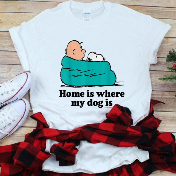 Hot Snoopy And Peanut home Is Where My Dog Is shirt