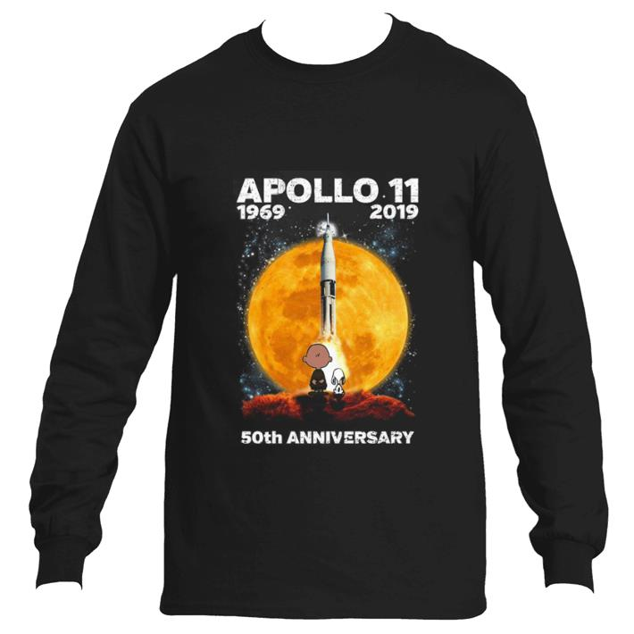 Hot Snoopy and Charlie Brown APOLLO 11 1969 2019 50th anniversary shirt