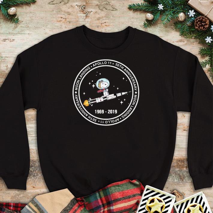 Hot Snoopy moon landing Apollo 11 50th anniversary 1969-2019 shirt