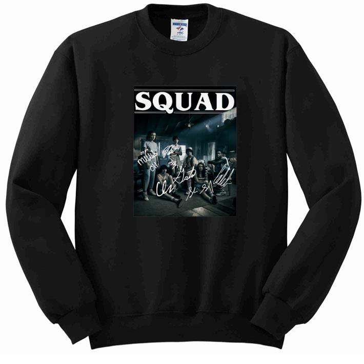 Hot Stranger Things 3 Squad Signatures Characters shirt