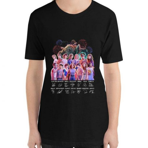 Hot Stranger Things all character signatures Lucas Dustin Will Eleven shirt 3 1 510x510 - Hot Stranger Things all character signatures Lucas Dustin Will Eleven shirt