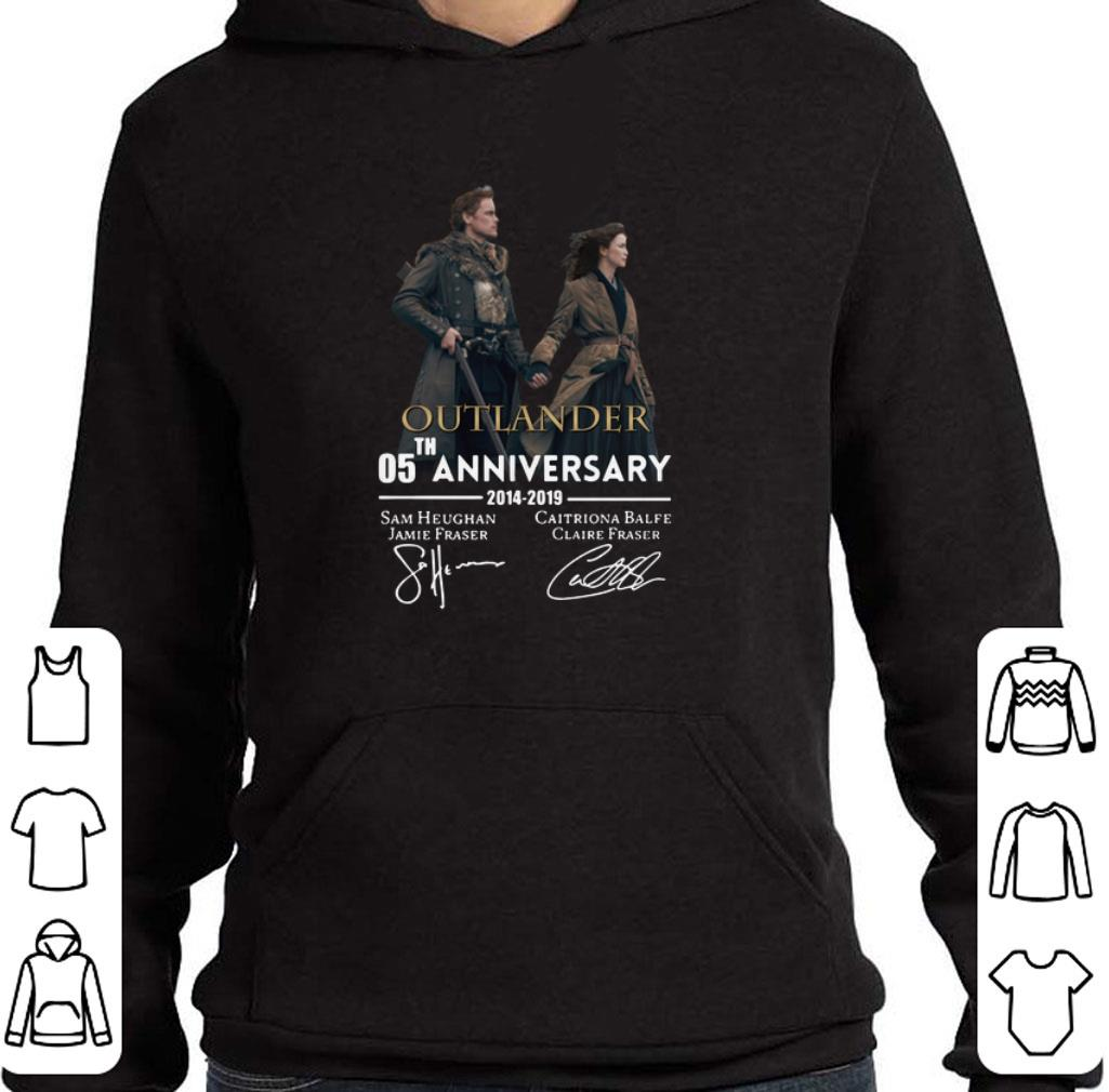 Official 05th anniversary Outlander 2014-2019 signatures shirt