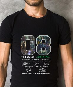 Official 08 years of Arrow signatures thank you for the memories shirt 2 1 247x296 - Official 08 years of Arrow signatures thank you for the memories shirt