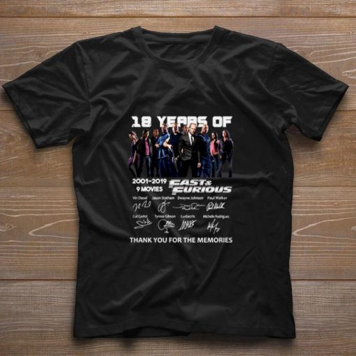 Official 18 year of Fast Furious 2001 2019 9 movies signatures shirt 1 1 510x510 - Official 18 year of Fast & Furious 2001-2019 9 movies signatures shirt