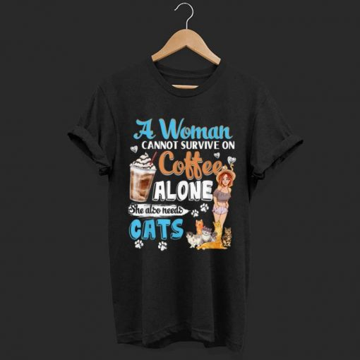 Official A Woman Cant Survive On Coffee Alone She Alos Needs Cats shirt 1 1 510x510 - Official A Woman Cant Survive On Coffee Alone She Alos Needs Cats shirt
