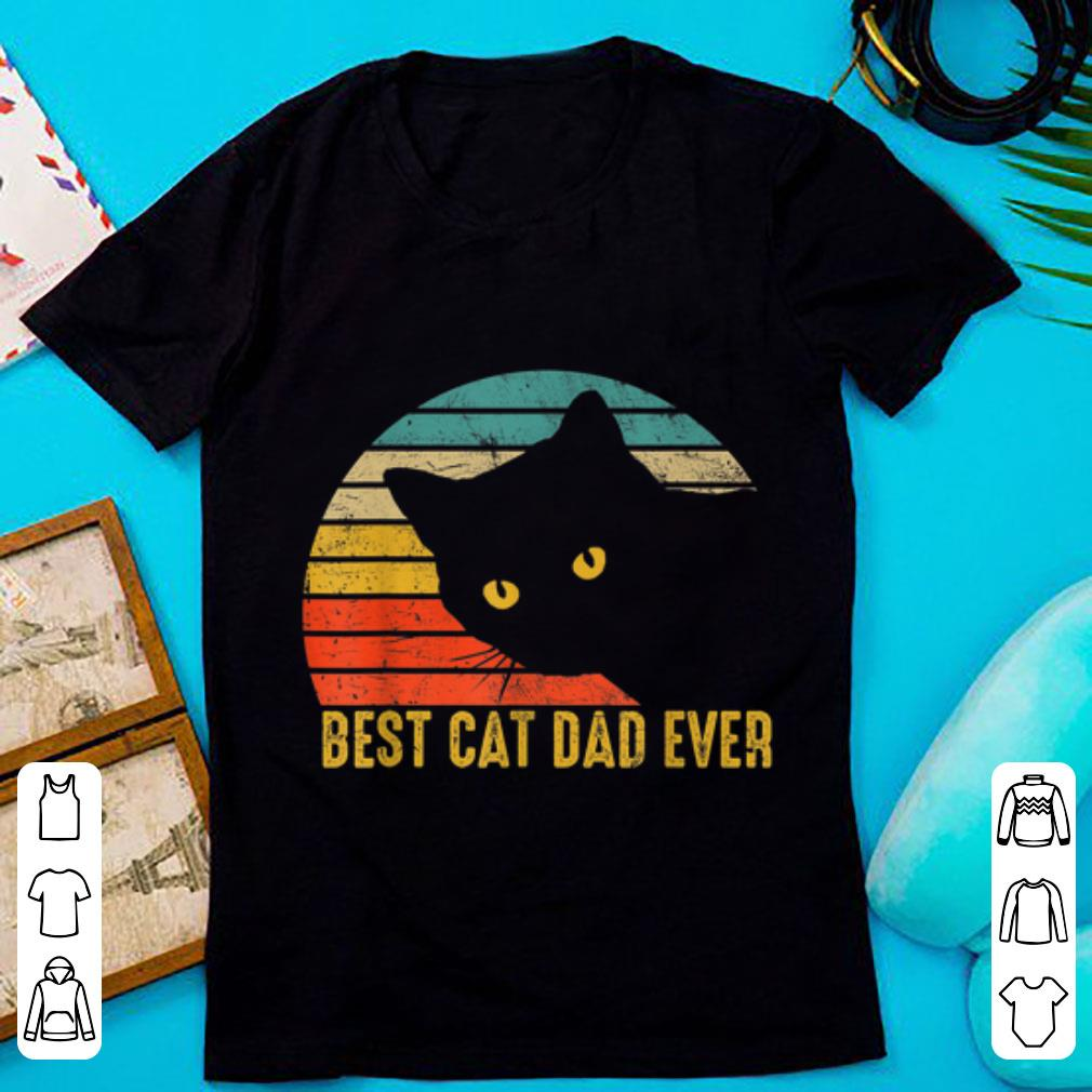 Official Best Cat Dad Ever Retro Vintage Cat Daddy Fathers Day shirt