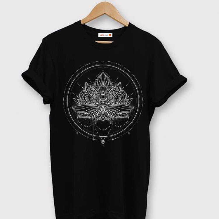 Official Circle Lotus Flower Mandala With Necklace shirt
