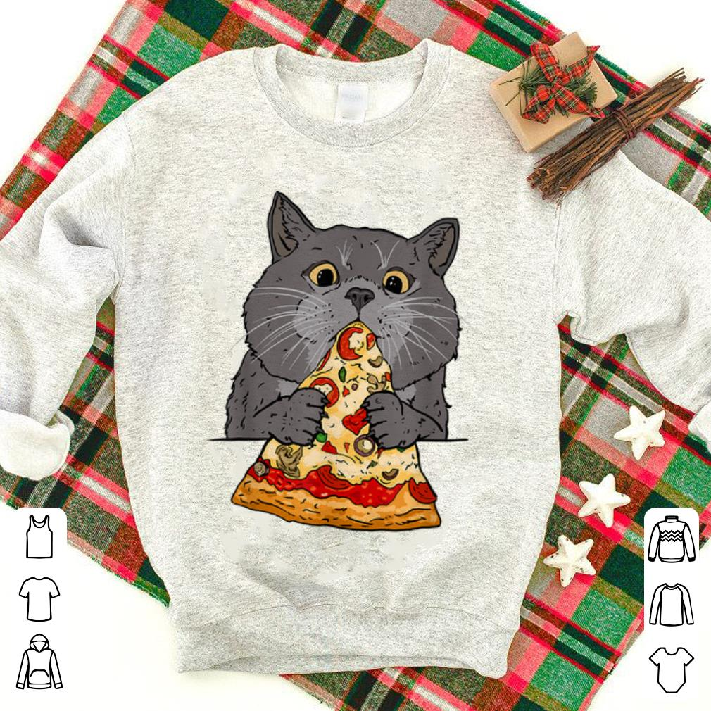 Official Cute Cat Like Pizza With Cheese Cats Lovers shirt