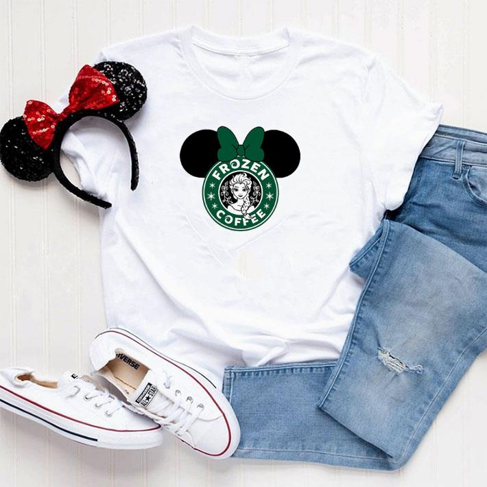 Official Disney Minnie Mouse Starbuck Frozen Coffee shirt