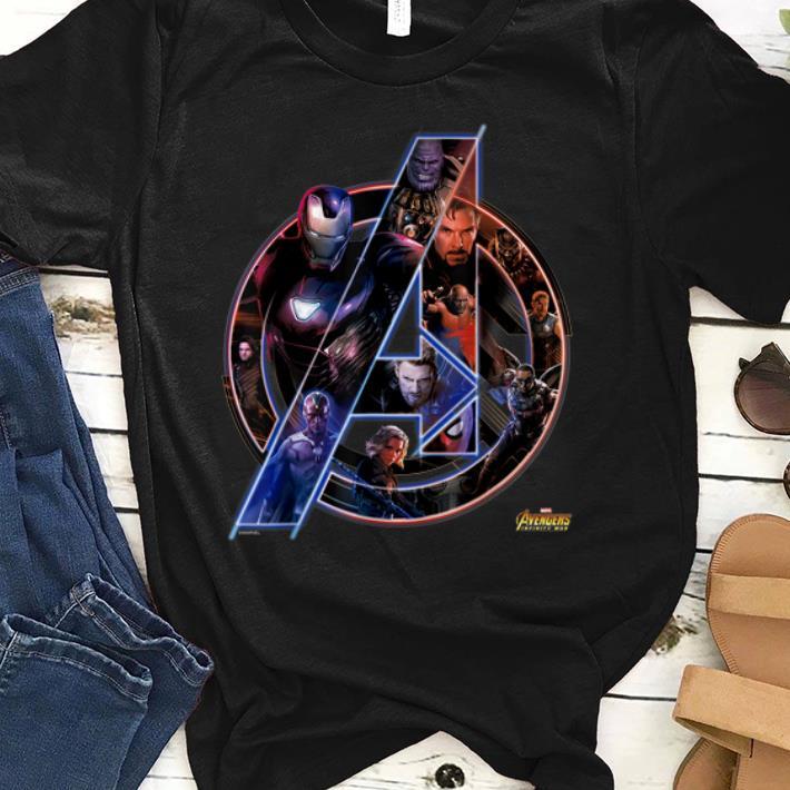 Official Marvel Avengers Infinity War Neon Team Graphic Iron Man Captian Thor shirt