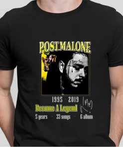 Official Post Malone 1995 2019 Become a legend signature shirt 2 1 247x296 - Official Post Malone 1995-2019 Become a legend signature shirt