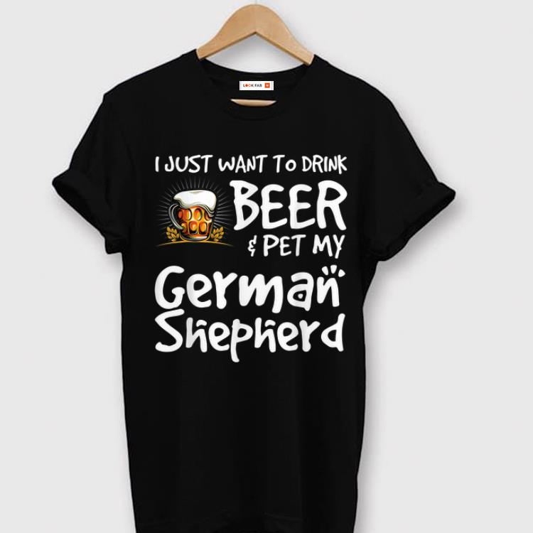 Original Beer And German Shepard For Dad Mom shirt