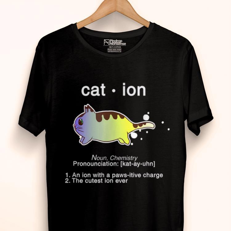 Original Biology Anime Cat Ion Kitty Kitten Chemistry shirt