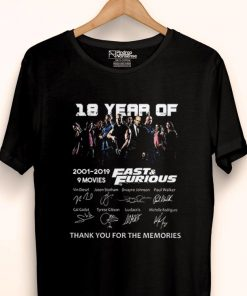 Premium 18 Years of Fast and Furious 2001 2019 9 Films Signature Fast Member shirt 1 1 247x296 - Premium 18 Years of Fast and Furious 2001 2019 9 Films Signature Fast Member shirt