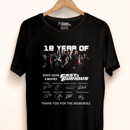 Premium 18 Years of Fast and Furious 2001 2019 9 Films Signature Fast Member shirt 1 1 510x510 - Premium 18 Years of Fast and Furious 2001 2019 9 Films Signature Fast Member shirt