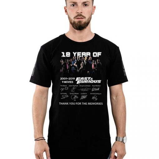 Premium 18 Years of Fast and Furious 2001 2019 9 Films Signature Fast Member shirt 2 1 510x510 - Premium 18 Years of Fast and Furious 2001 2019 9 Films Signature Fast Member shirt