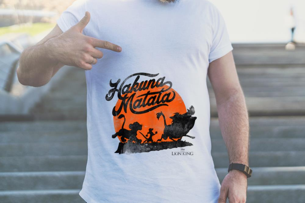 Premium Disney Lion King Hakuna Matata Trio Orange Sunset shirt