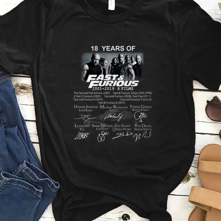 Premium Jamila 18 Years Of Fast And Furious 2001 2019 9 Films Signature shirt