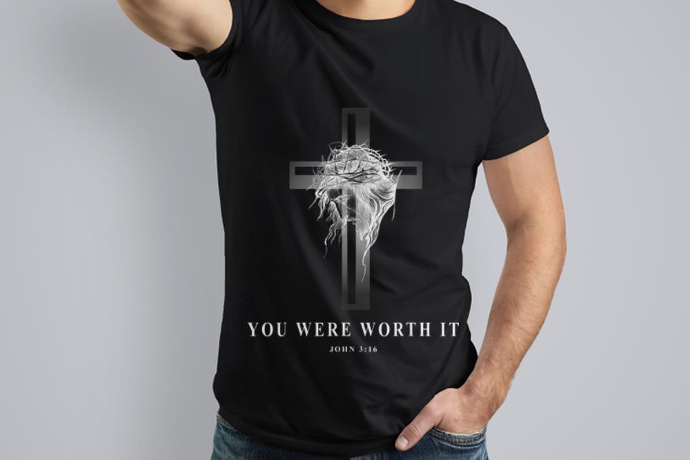 Premium Jseus Cross Easter Christian You Were Worth It shirt
