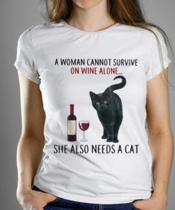 Pretty A Woman Cannot Survive On Wine Alone She Also Needs A Cat shirt 1 1 247x296 - Pretty A Woman Cannot Survive On Wine Alone She Also Needs A Cat shirt