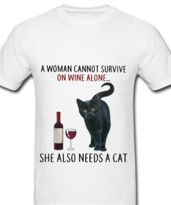 Pretty A Woman Cannot Survive On Wine Alone She Also Needs A Cat shirt 2 1 247x296 - Pretty A Woman Cannot Survive On Wine Alone She Also Needs A Cat shirt