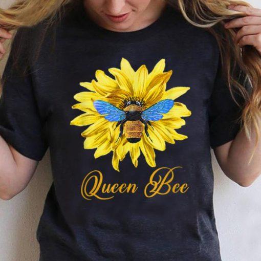 Pretty Bee Wtih Flower Queen Bee shirt 3 1 510x510 - Pretty Bee Wtih Flower Queen Bee shirt