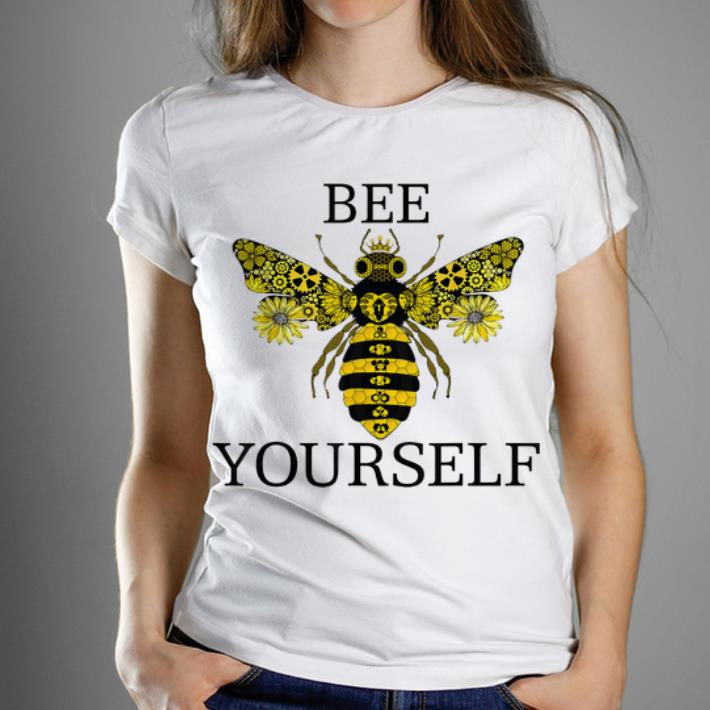 Pretty Bee Yourself Namaste Love Save The Bees Save The World shirt