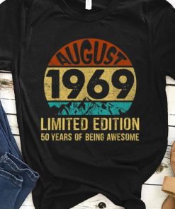 Pretty Born In August 1969 Limited Edition 50th Birthday shirt 1 1 247x296 - Pretty Born In August 1969 Limited Edition 50th Birthday shirt