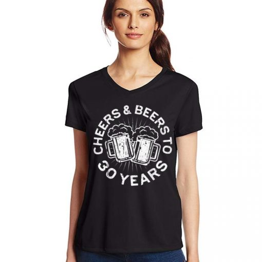 Pretty Cheers And Beers To 30 Years 30th Birthday shirt 3 1 510x510 - Pretty Cheers And Beers To 30 Years 30th Birthday shirt