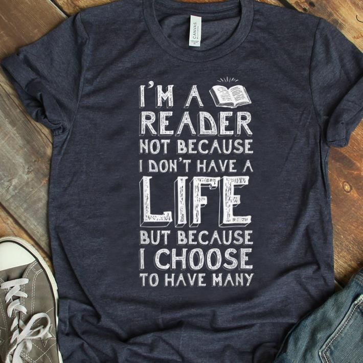 Pretty I Am A Reader Book Quote Bookworm Reading Literary shirt
