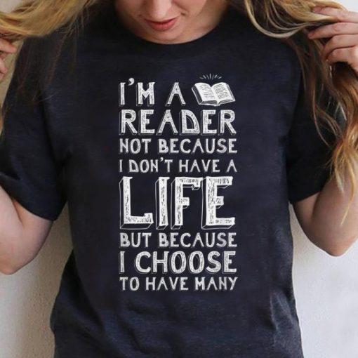 Pretty I Am A Reader Book Quote Bookworm Reading Literary shirt 3 1 510x510 - Pretty I Am A Reader Book Quote Bookworm Reading Literary shirt