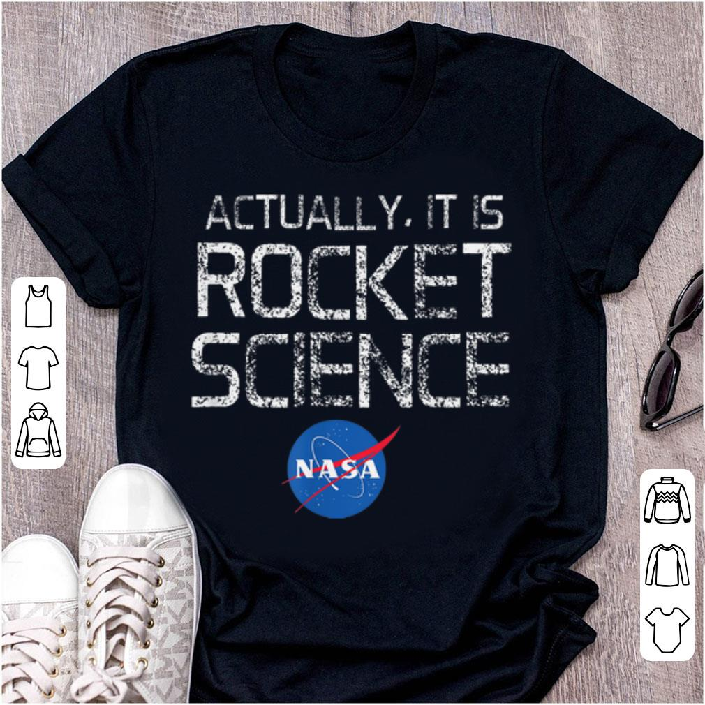 Pretty NASA Actually It Is Rocket Science 50th Anniversary Moon Landing shirt