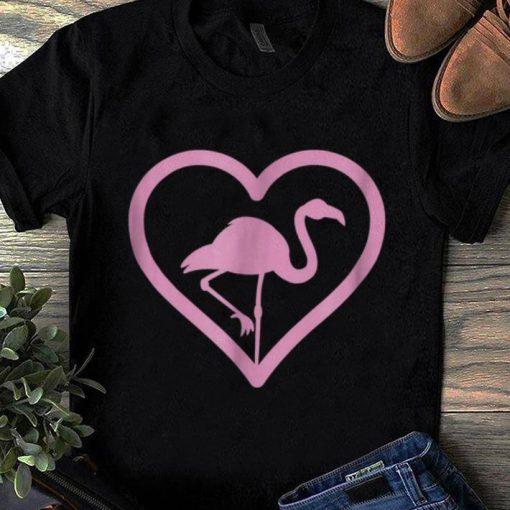Pretty Pink Flamingo Heart Wading Bird Species Lover shirt 1 1 510x510 - Pretty Pink Flamingo Heart - Wading Bird Species Lover shirt