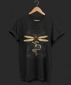 Pretty Steampunk Dragonfly Vintage Gears Goth shirt 1 1 247x296 - Pretty Steampunk Dragonfly Vintage Gears Goth shirt