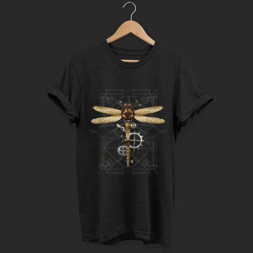 Pretty Steampunk Dragonfly Vintage Gears Goth shirt 1 1 510x510 - Pretty Steampunk Dragonfly Vintage Gears Goth shirt