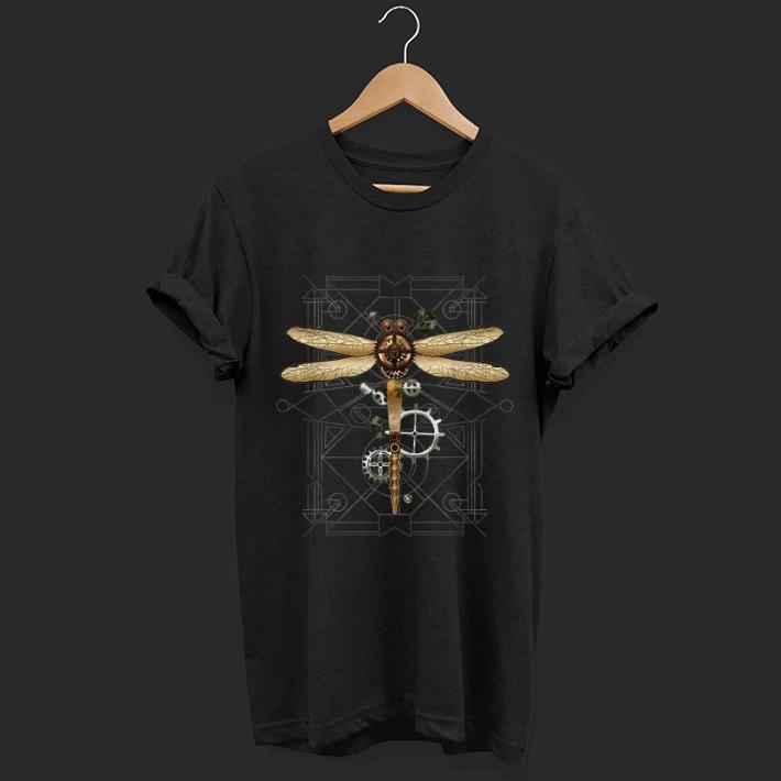 Pretty Steampunk Dragonfly Vintage Gears Goth shirt