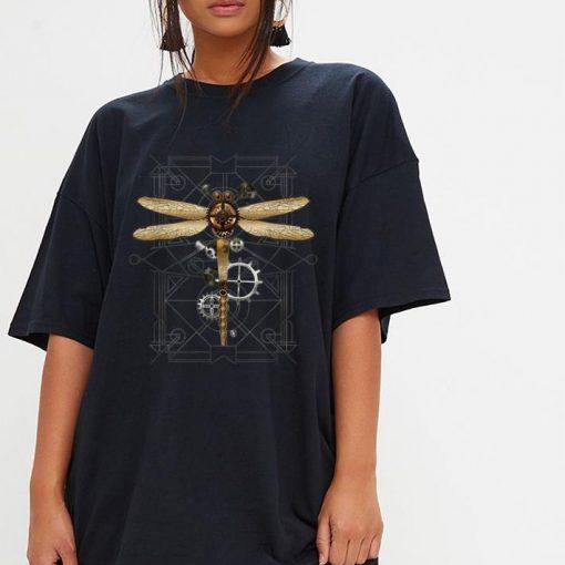 Pretty Steampunk Dragonfly Vintage Gears Goth shirt 3 1 510x510 - Pretty Steampunk Dragonfly Vintage Gears Goth shirt