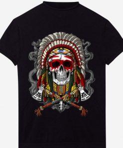 Top Native American Chief Skull Indian Headdress shirt 1 1 247x296 - Top Native American Chief Skull Indian Headdress shirt