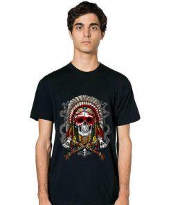 Top Native American Chief Skull Indian Headdress shirt 2 1 247x296 - Top Native American Chief Skull Indian Headdress shirt