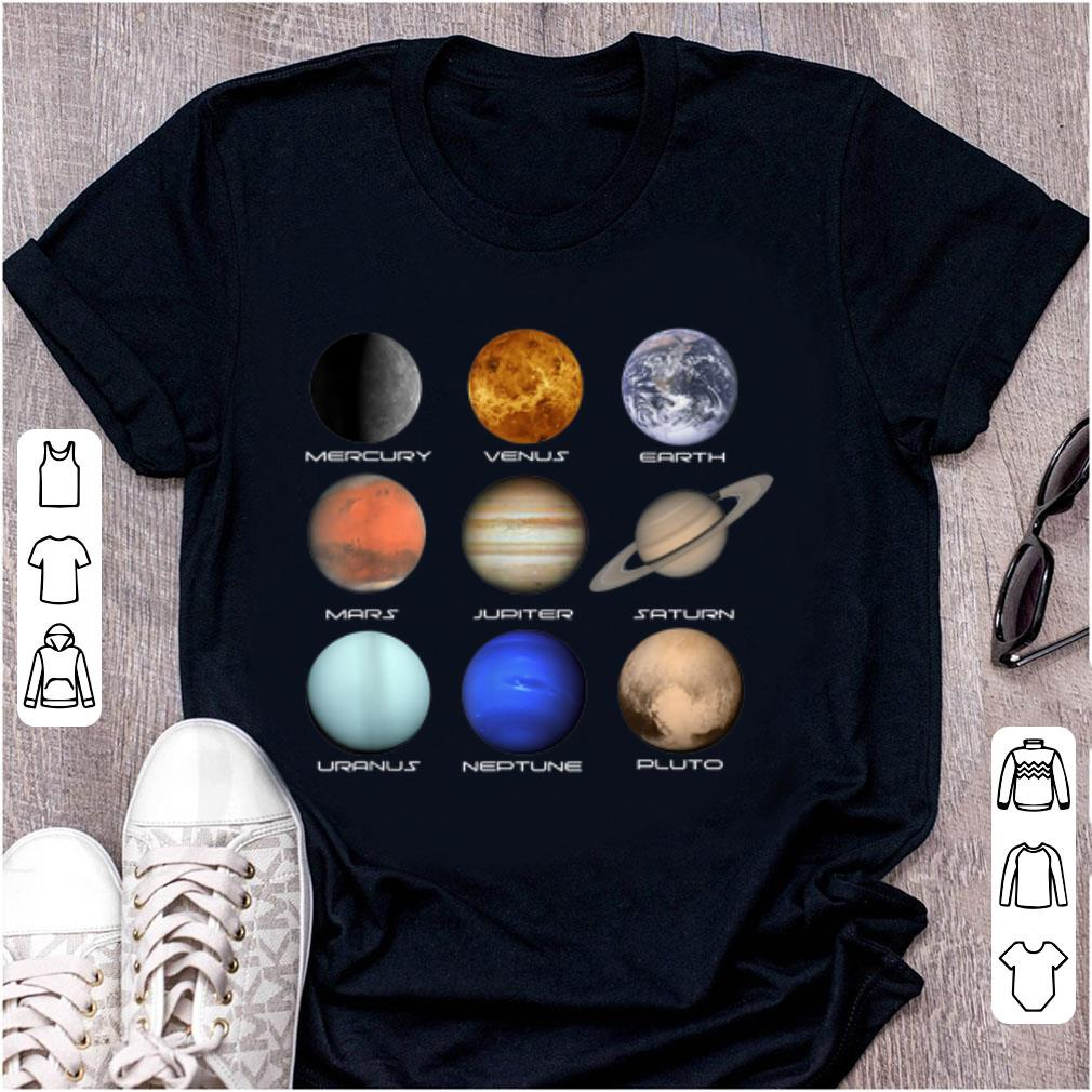 Top Planets Of The Solar System Space Lovers shirt