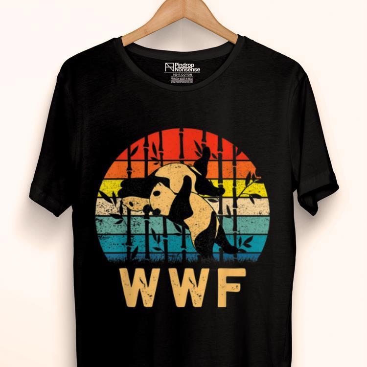 Top Sunset Vintage Panda Bears WWF's Finish Him Panda Lover shirt