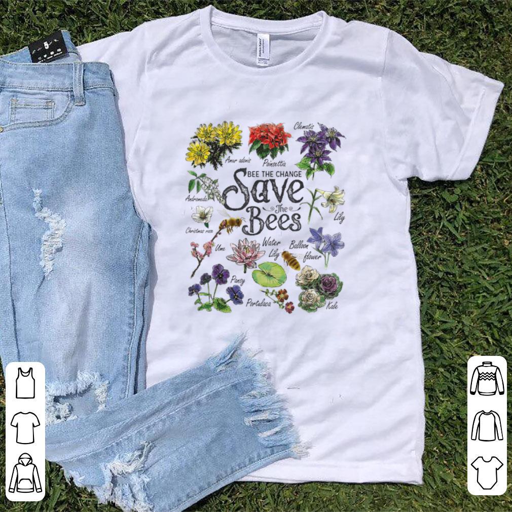 Top Vintage Botanical Save The Bees Flower shirt