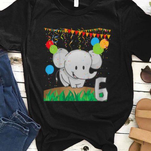 Top Youth Sixth Birthday Elephant 6 Six Years Old shirt 1 1 510x510 - Top Youth Sixth Birthday Elephant 6 Six Years Old shirt
