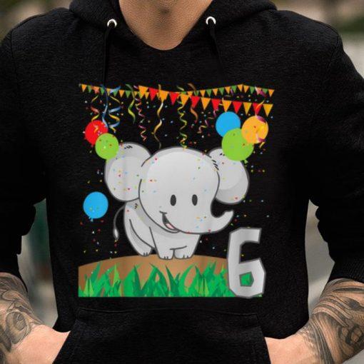 Top Youth Sixth Birthday Elephant 6 Six Years Old shirt 2 1 510x510 - Top Youth Sixth Birthday Elephant 6 Six Years Old shirt