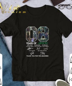 08 years of Arrow signatures thank you for the memories shirt 1 1 247x296 - 08 years of Arrow signatures thank you for the memories shirt