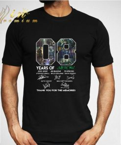 08 years of Arrow signatures thank you for the memories shirt 2 1 247x296 - 08 years of Arrow signatures thank you for the memories shirt